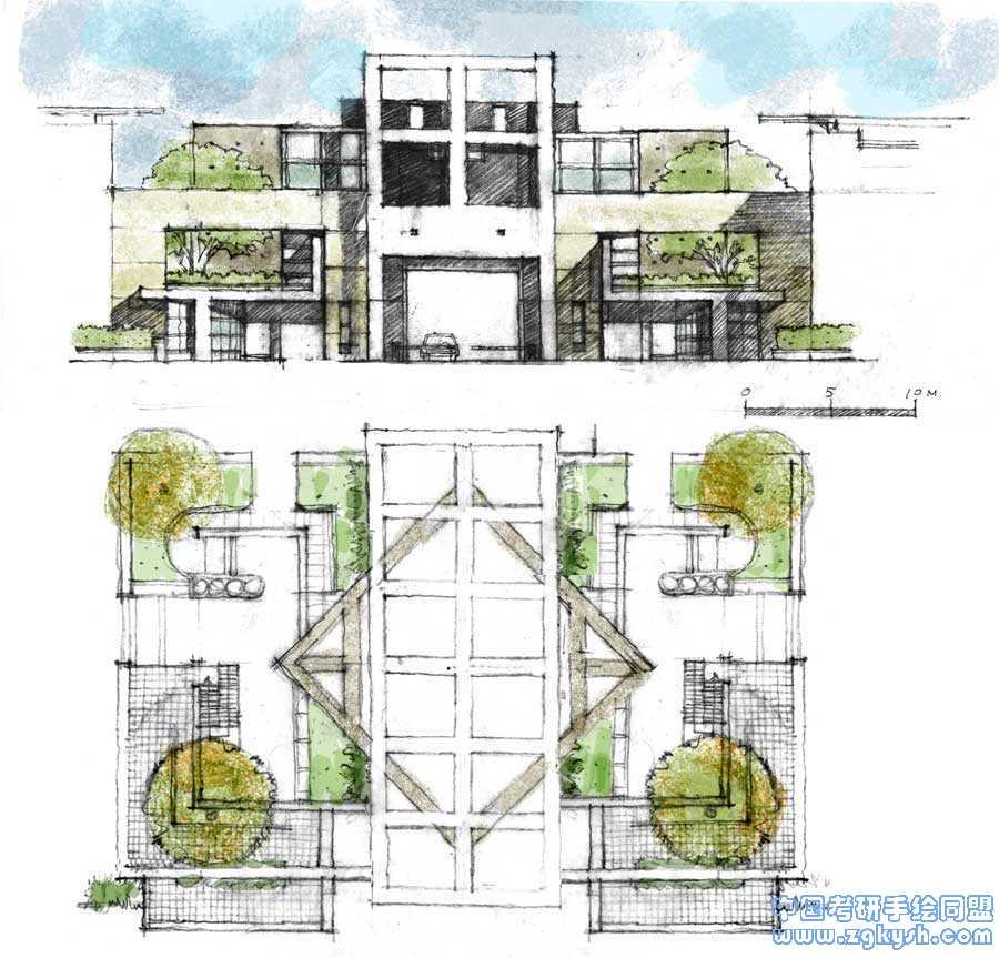建筑设计平面图,立面图建筑设计,立面图,平面图手绘图