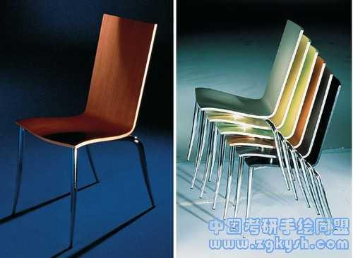 木质座椅手绘图