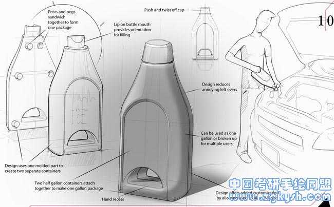 油壶设计手绘方案