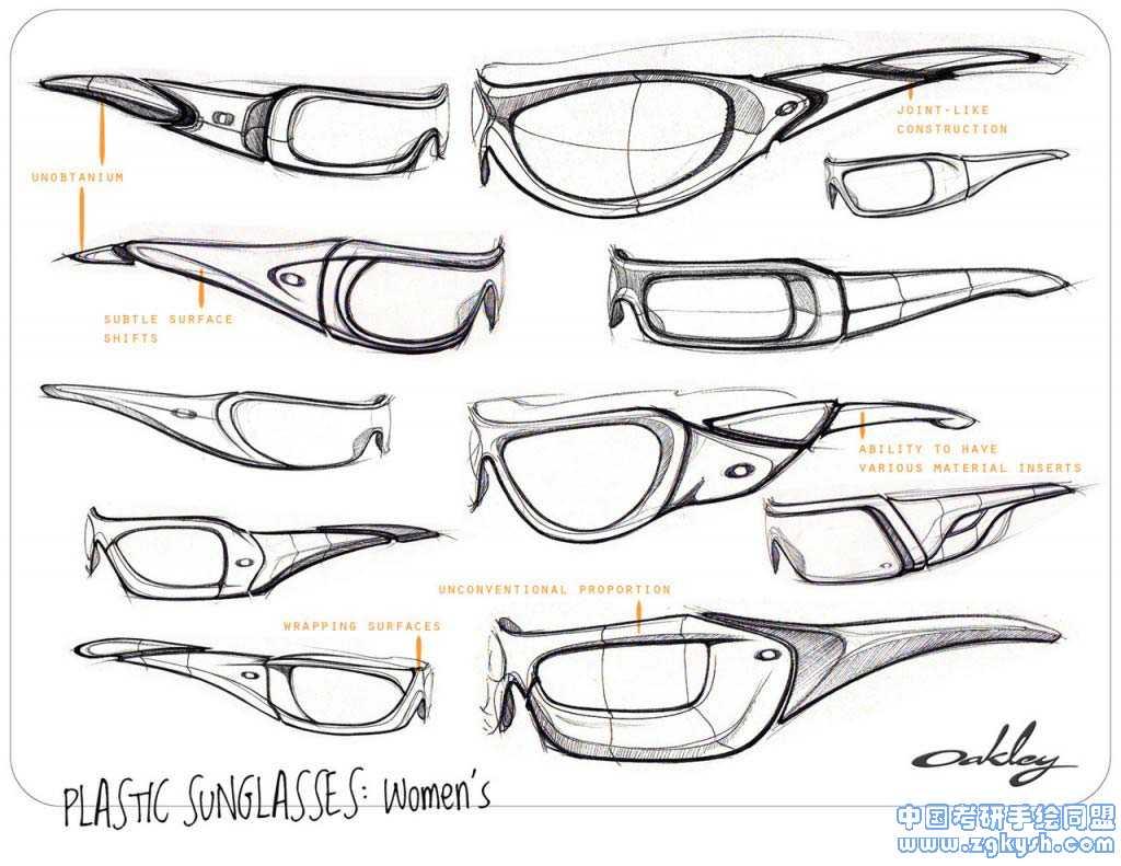 眼镜设计草图设计方案手绘表现