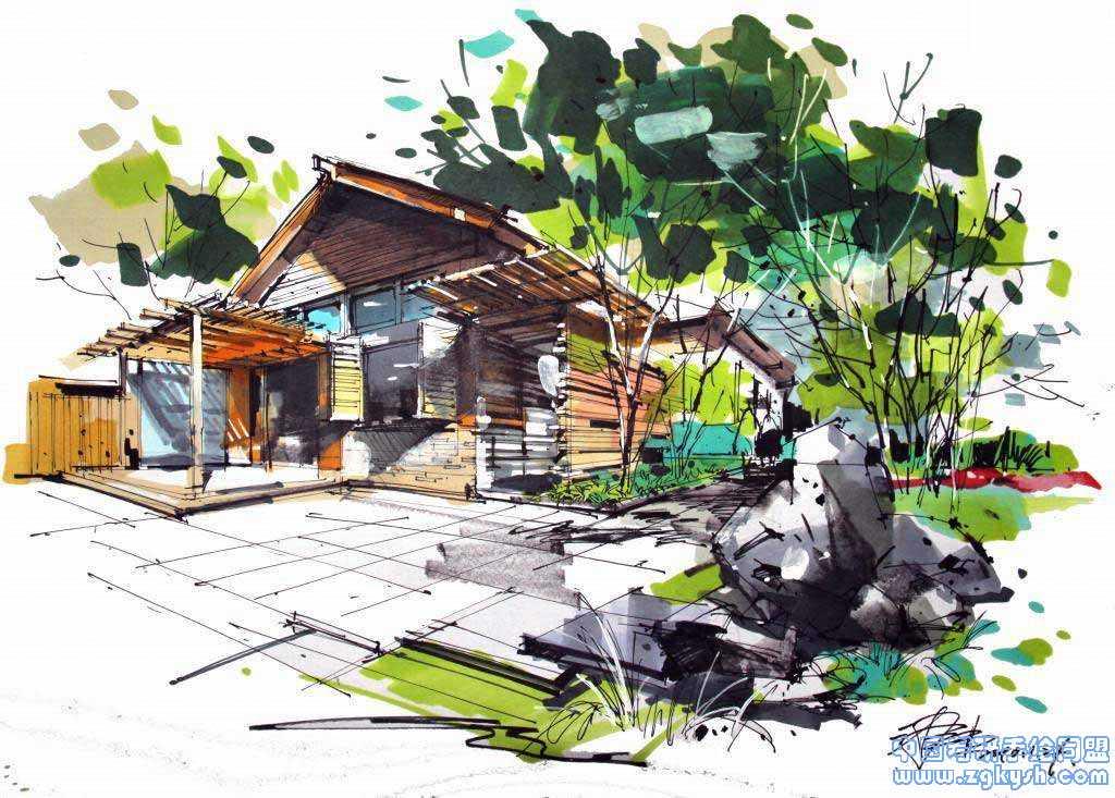 沙沛老师的手绘作品沙沛老师,景观手绘,手绘效果图图