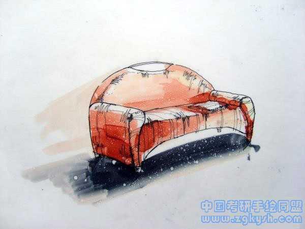 单体家具手绘效果图家具设计