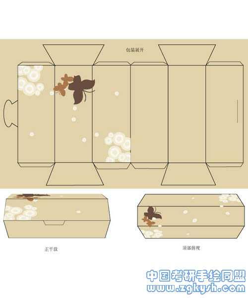 平面设计考研包装盒结构图