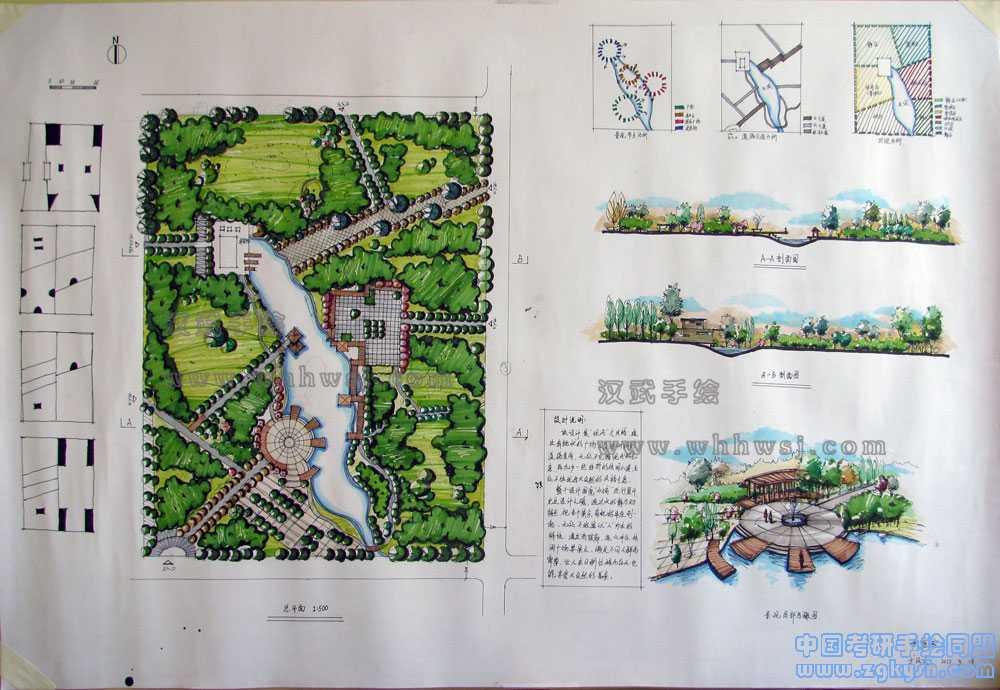 风景园林考研手绘快题之公园设计