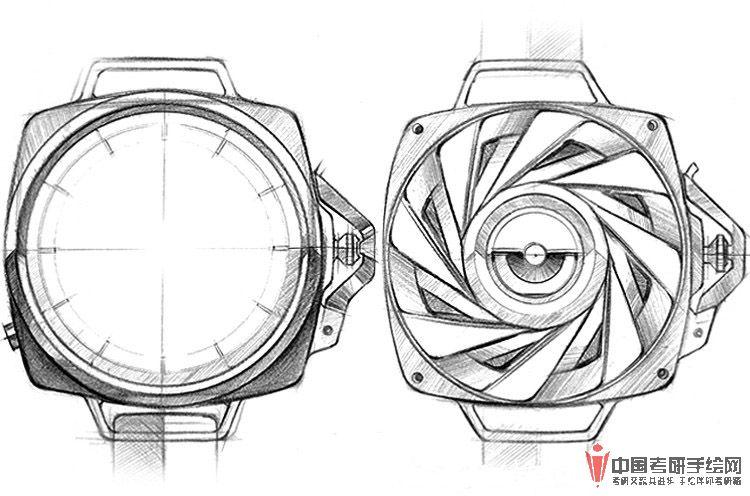 考研手绘网 69 手绘效果图 69 工业设计手绘 69 手表手绘效果图