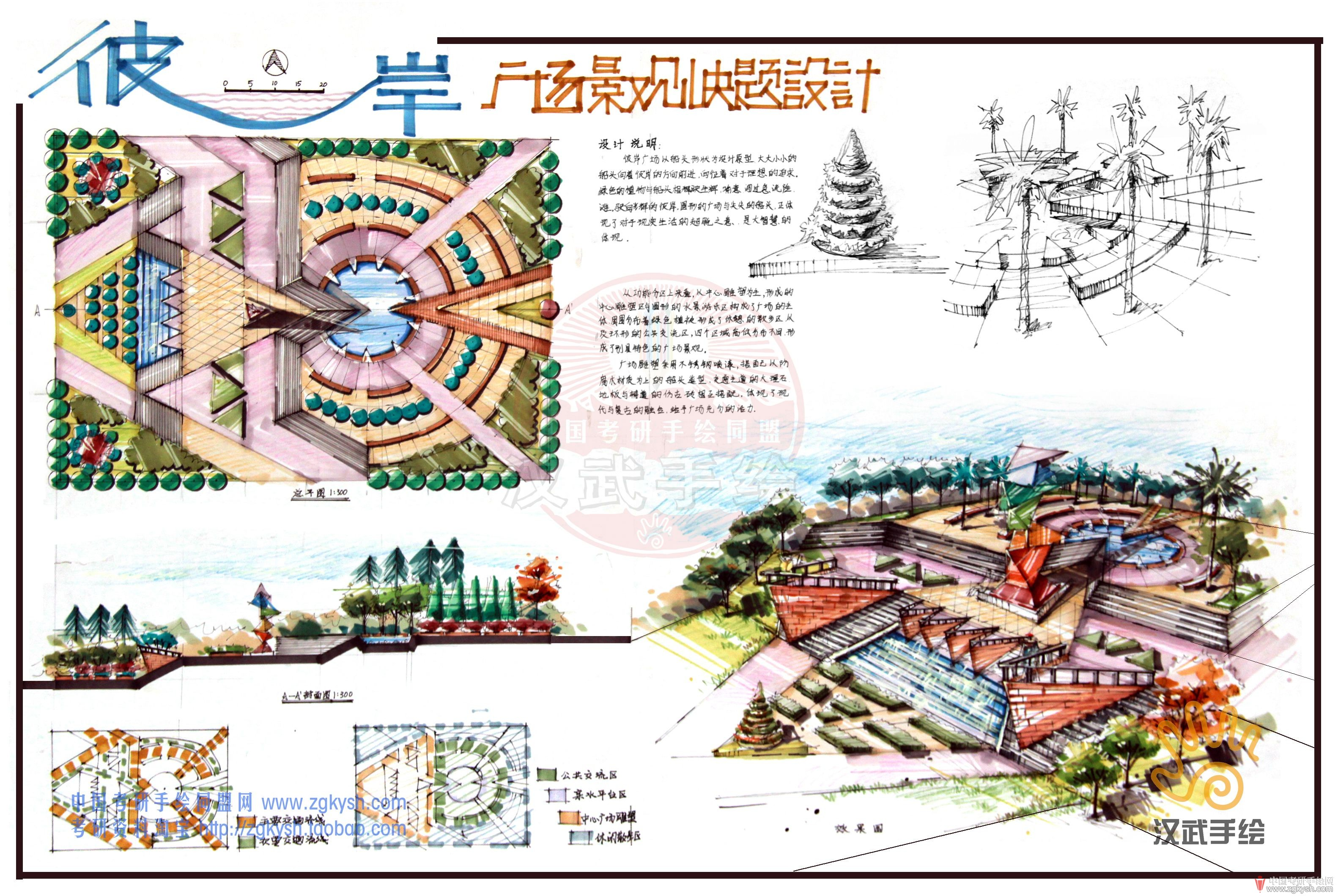 120张风景园林,景观环艺考研手绘快题模板-资源共享