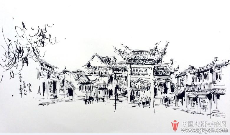 考研手绘网 69 手绘效果图 69 园林景观手绘 69 大师作品展示