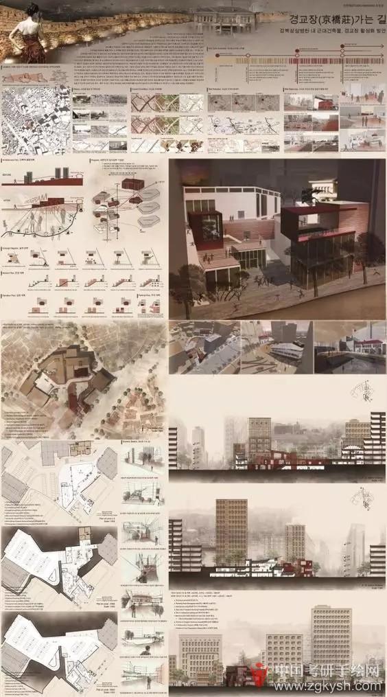 建筑狗毕业设计排版大放送……建筑考研手绘快题 - .