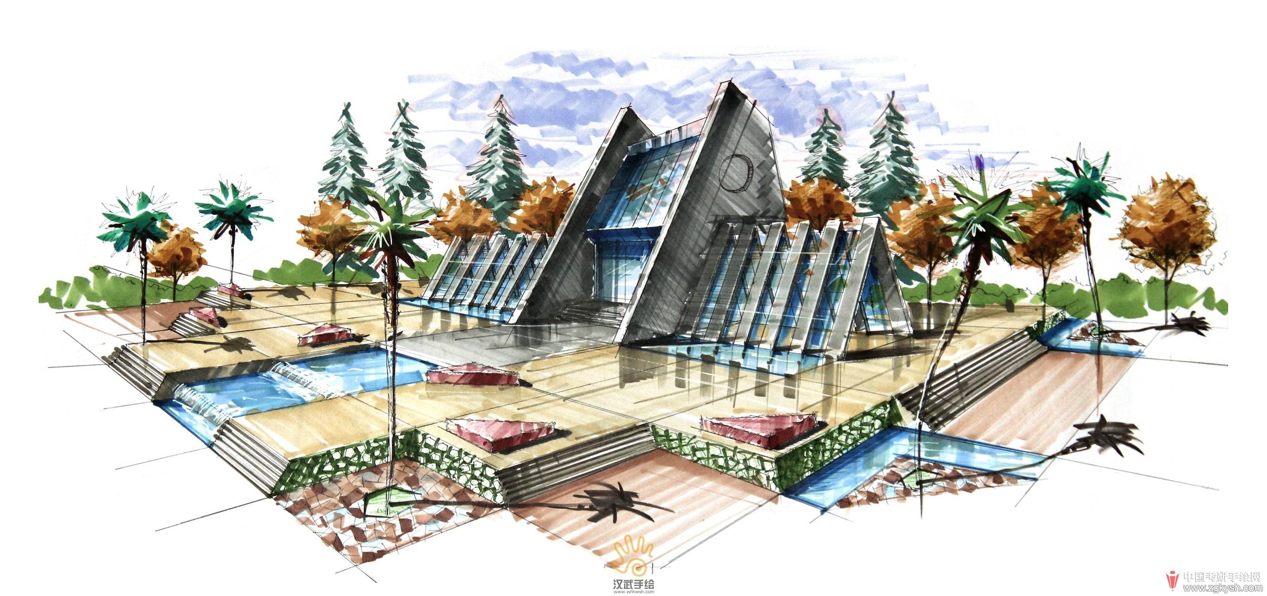 公园小建筑设计手绘方案图.jpg