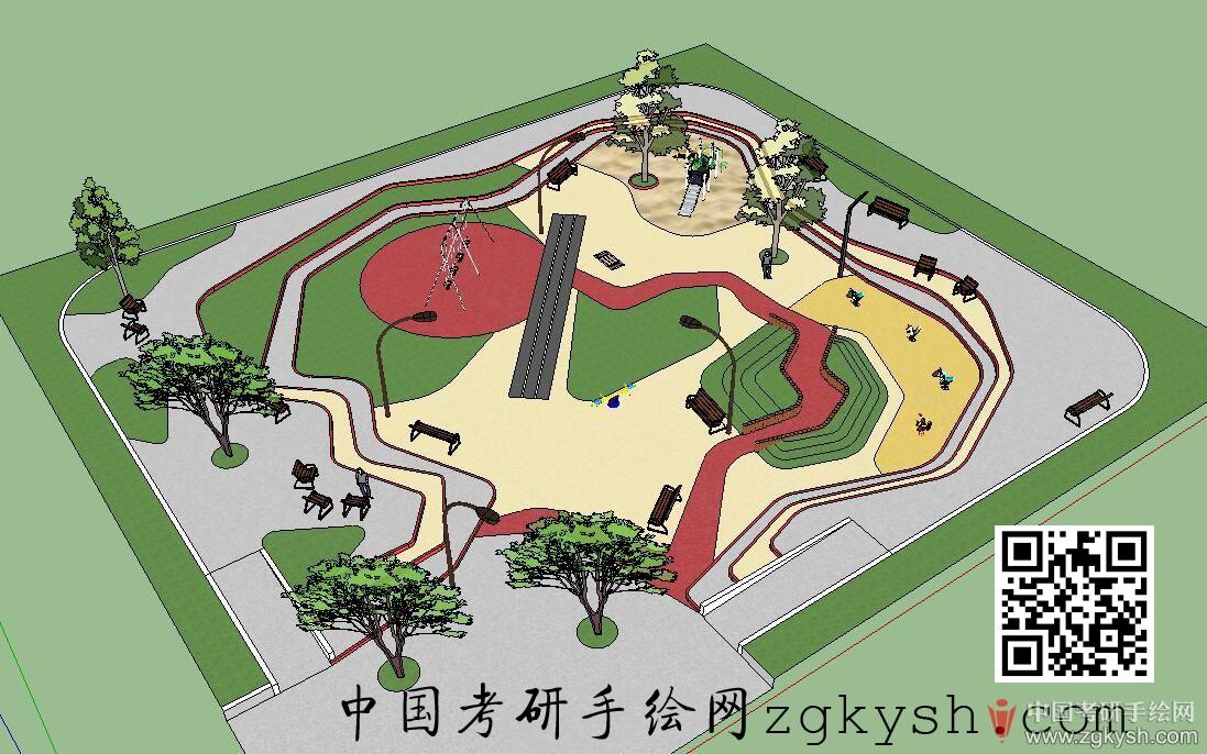 儿童活动场地平面图_居住区儿童活动区设计