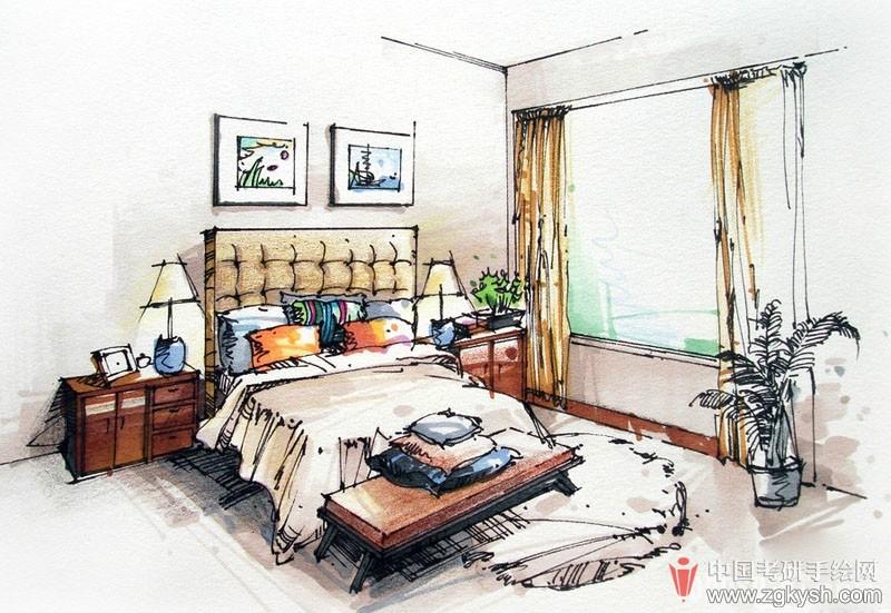 创意马克笔手绘室内效果图